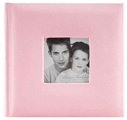MCS Fashion Fabric 200 Pocket Album, Pink (846515) (Baby Album Pretty)
