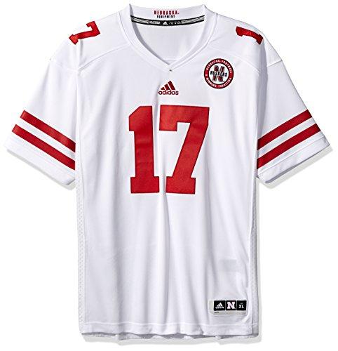 (NCAA Nebraska Huskers Adult Men Premier Football Jersey, X-Large, White)