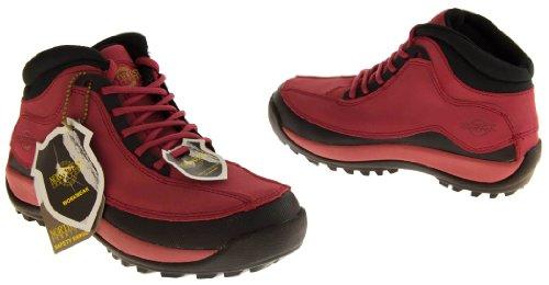 Northwest Territory - Botas de proteccion de cuero para mujer. Rojo