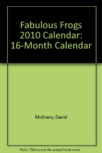 (Fabulous Frogs 2010 Calendar (Multilingual Edition) )