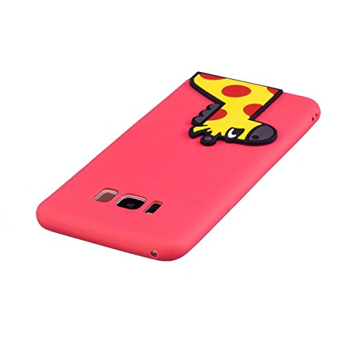 Funda Samsung Galaxy S8 Silicona, Carcasas Samsung Galaxy S8 Case Cover Dibujos Animados Flexible TPU Opaco Ultra Delgado Ultra Ligero Goma Caja Suave Gel Shock-Absorción,Anti-Arañazos y Anti-Choque B Ciervo