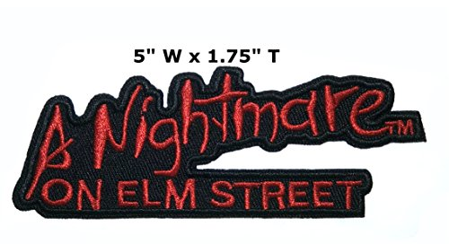 Application Classic Halloween Friday The 13th Nightmare on Elm Street Cosplay Badge Embroidered Iron Or Sewn-On Applique Patch -