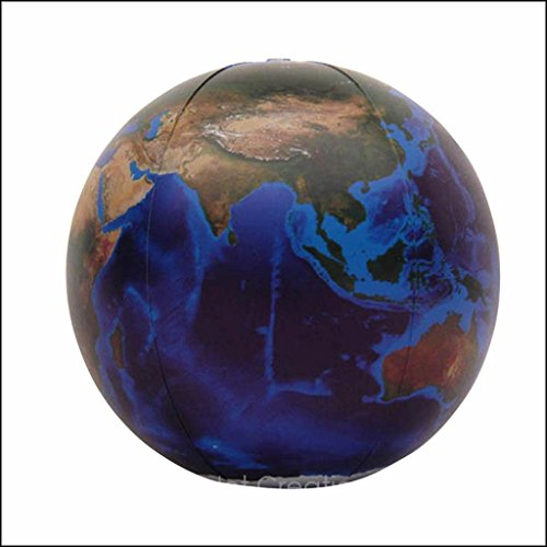 16 Inch Blue Globe - Inflatable Earth Globe: The Blue Marble – The most realistic depictions of planet earth! (16 inches)