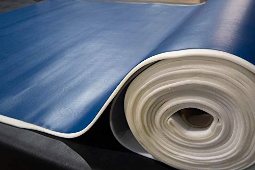 1/4'' Foam Backed Marine Vinyl Upholstery Fabric Dark Blue 54'' Wide by 5 Yards Boat Auto by Bry-Tech Marine1 (Image #3)