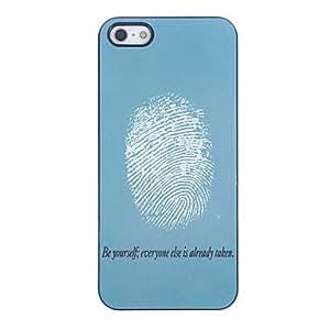 WQQ Fingerprint Design Aluminium Hard Case for iPhone 4/4S