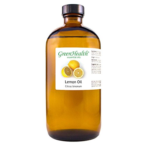 GreenHealth Lemon - 100% Pure Essential Oil 16 fl oz (473 ml) Glass Bottle