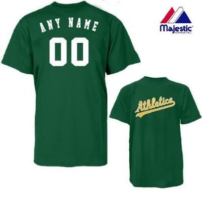 finest selection 92948 b0a50 Oakland Athletics Personalized Custom (Add Name & Number) 100% Cotton  T-Shirt Replica Major League Baseball Jersey