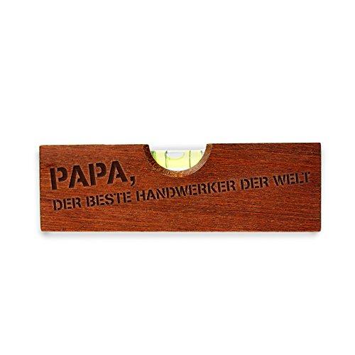 Flaschenöffner im Wasserwaagen-Look mit Gravur für Papa - Papa, Der beste Handwerker der Welt - lustige Geschenkidee für Männer- Geburtstags- und Vatertags-Geschenk