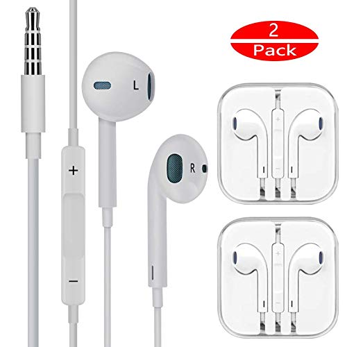 Earbuds/Earphones/Headphones FUELUS Wired/Noise Isolating Earplugs Stereo Bass Headphones with Built-in Microphones & Volume Control ,Compatible iPhone 6 /iPad Samsung/Android/MP3 All 3.5mm Devices