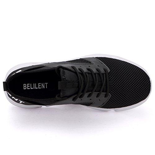 Scarpe Da Running Da Donna Belilent - Sneakers Sportive Traspiranti Leggere E Traspiranti Sneakers Moda Nero / Bianco Suola 077