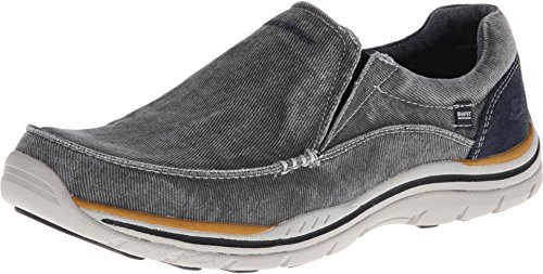 Skechers Relaxed Fit Expected Avillo Mens Slip On Loafers Shoes Blue 10.5