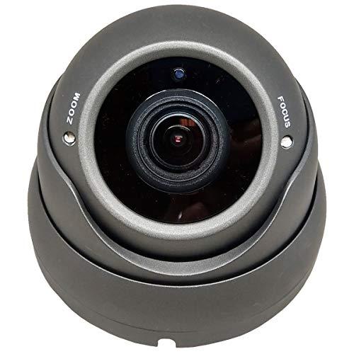 1stPV 1080P True-HD 4in1 (TVI, AHD, CVI, CVBS) CCTV Security Day/Night Color IR Dome Camera 2.8-12mm Varifocal Lens Sony 2.4 Megapixel STARVIS WDR Weather/Vandalproof Metal Housing 12VDC (Charcoal)