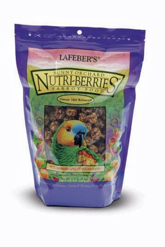 Lafeber's Gourmet Sunny Orchard Nutri-Berries For Parrots 3-Pound Bag, My Pet Supplies
