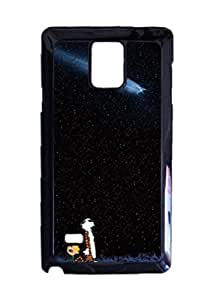 Engood Design Calvin and Hobbes Meteor Case Durable Unique Design Hard Back Case Cover For Samsung Galaxy Note 4 New
