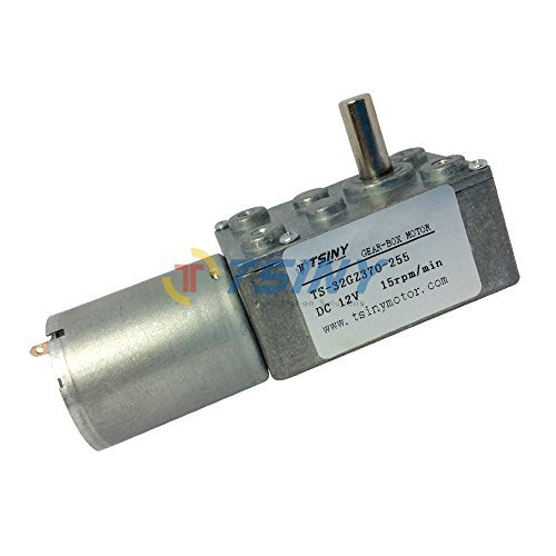 Small 12vdc 15 RPM Worm Reduction Gear Motor