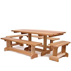 All Things Cedar 10-Person Picnic Table Outdoor Patio Set