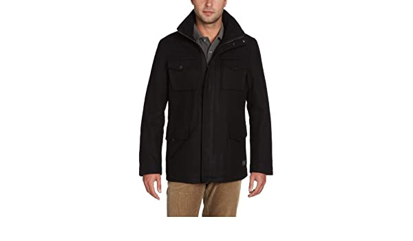 Ben Sherman - Abrigo de manga larga con cuello mao para hombre, color negro 005, talla m: Amazon.es: Ropa y accesorios