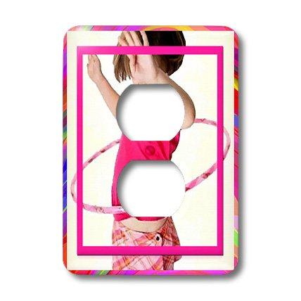 3d Rose 3dRose lsp_18337_6 Hula Hoop Girl 2 Plug Outlet C...