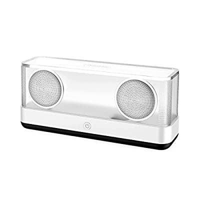 Inateck Transparent Wireless Bluetooth 4.2 Speaker with 20W Output, Louder Volume with Enhanced Subwoofer Bass Up to 8 Hours Play Time for iPhone, iPad and Other Smartphones or Tablets - Black(BP2003)