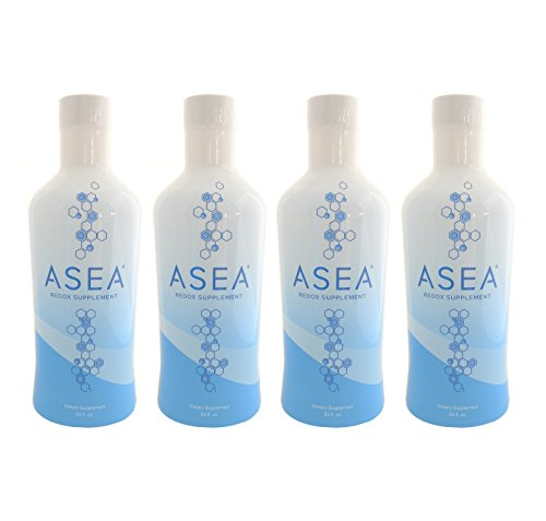 New and Improved Asea Redox Supplement Water - 1 Full Case (4 - 32oz Bottles) by ASEA