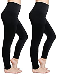 Womens Fleece Lined Leggings High Waist Buttery Soft...