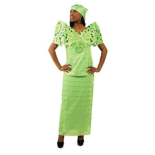 Butterfly Lace Skirt Set: Lime 12 by utopia africa