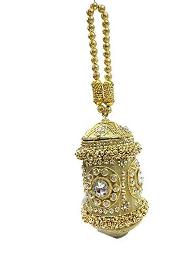 Round Bridal Women Fully Metal Party Bag Purse Crystal Handbag High Quality Hand Beaded Handmade Golden Clutch With rhinestones Royal Clutch Ball Hx1wqangE