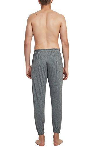 Di Pantaloncini Gli Sonno Tasche Pantaloni Cintura Da Tempo Casuale Dolamen Elastica Libero Uomo Deepgray Biancheria Notte Il Modal Lungo Yoga Pigiama Sport Coppie Cotone cApUxCqpH