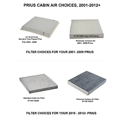 Prius Engine Air Filter and Cabin Air Filter KIT - Prius 2010, 2011+ All Models - One Engine Filter & One Cabin Air Filter: Automotive