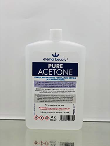 Pure Acetone 100% Nail Polish Remover UV LED GEL Soak Off 250ML Eternal Beauty