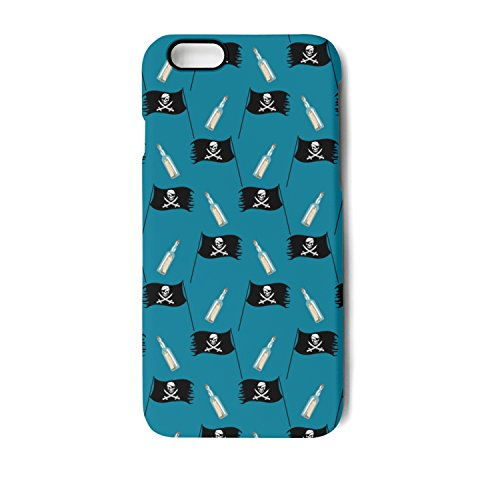 IPhone 6/6s Case Miniature Pirate Flag And Bottle Blue Bumpe