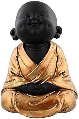 Pintada en Oro Rosa JULIANA COLLECTION Figura de Buda de beb/é con meditaci/ón