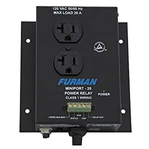 Furman MP-20 Power Relay Accessory, 20 Amp, Two Outlets, Remote Turn-on from Momentary or Maintained Contact Switches