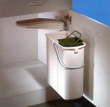 Wesco Einbau Abfalleimer Vario 1 plus, 19 Liter, weiß, mit 5 Liter ...
