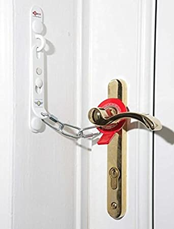 Secure Ring Standard Security Door Chain White Left Hand