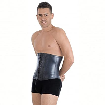 e291401077 Amazon.com   Ann Michell Waist Trainer - Men Black Latex 2 Hook Medium 36    Everything Else