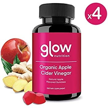 Amazon.com: Glow Apple Cider Vinegar Gummies - 4 Pack