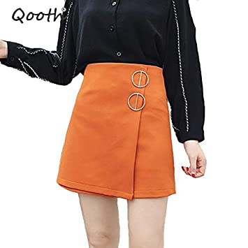 QBXDQ Falda Corta Faldas para Mujer Harajuku Girly Metal Junta ...
