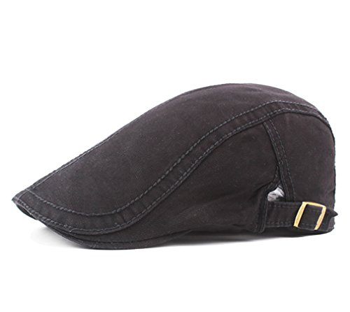 Men's Cotton Flat Snap Hat Ivy Gatsby Newsboy Hunting Cabbie Driving Cap -