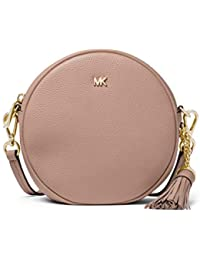 Michael Kors Pebbled Leather Medium Canteen Crossbody Bag- Fawn