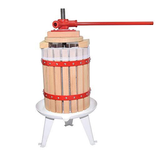 Fruit Wine Press 1.6 Gallon Solid Wood Basket Cider Press Apple Press Berries Press Wine Making Press