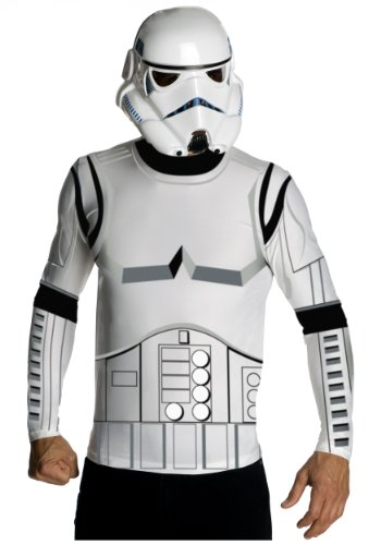Rubies Mens Top Mask Star Wars Stormtrooper Theme Party Fancy Costume, Large (Cheap Stormtrooper Costumes)