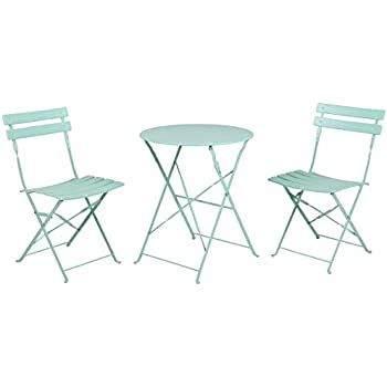 grand patio premium steel patio bistro set folding outdoor patio furniture sets 3 piece