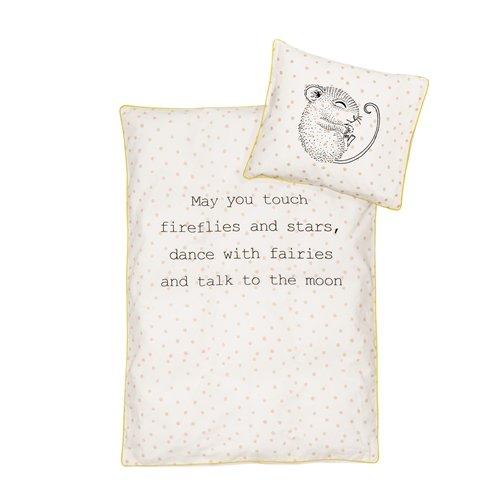 Bloomingville Junior Linen, Duvet/Pillow, Off White w/Nude, Set DW135xL200/PCW80xH80 cm DE