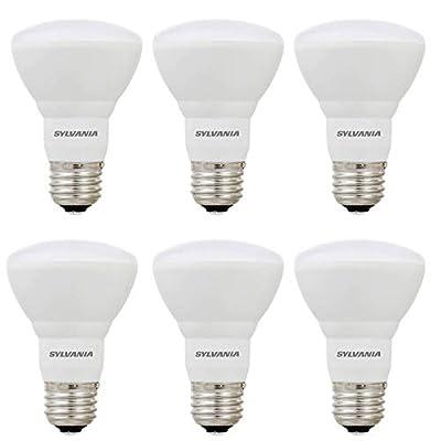 Sylvania R20 35W Energy Saving Dimmable Soft White 2700K LED Flood Light Bulb (6 Pack)
