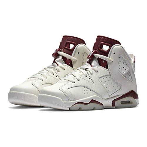 624a3d0a5ef060 Nike Air Jordan 6 Retro OG BG 836342-115 Off White Maroon Kids Basketball  Shoes (7Y)