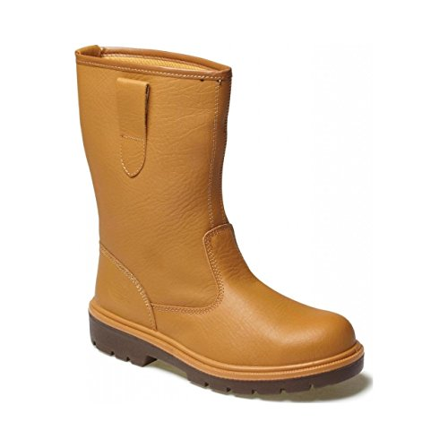 Dickies Mens Super Safety Unlined Steel Toe Cap Rigger Boots Brown SYL10t2