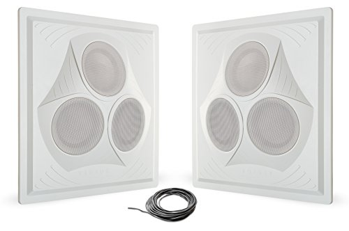 Powered Drum Monitor System (Pure Resonance Audio VCA8 - Vector Ceiling Speaker Array 120 Watts 8 Ohm (2 Speakers + Wire))