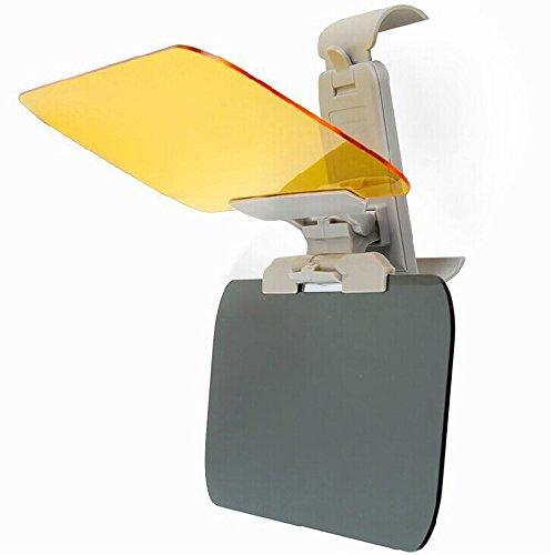 E Support™ 2 in 1 KFZ Auto Sonnenblende Blendschutz Transparent Anti-Glare Glas für Tag und Nacht Sonnenschutz Sichtschutz Reinigungstuch