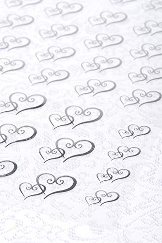 (Clear Stickers 53/Pk-Silver Double Heart)